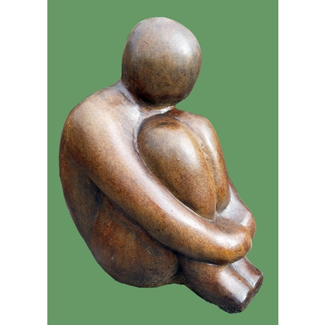 Henry Contemporary Stone Statue - Burnt Umber