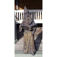 Merlin  Wizard Stone Statue - Burnt Umber