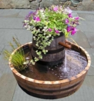 Oak Barrel Water Features