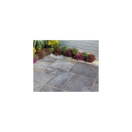 Natural Slate Patio Kit 5.5m - Sapphire Black