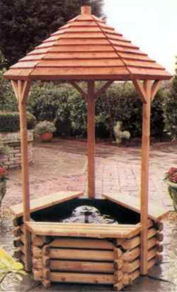 Barrel Amp Garden Norlog Wishing Well Fountain