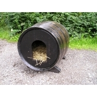 Oak Barrel Dog Kennel