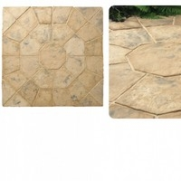 Minster Octagon Patio Kit 2.3mtr Autumn Brown