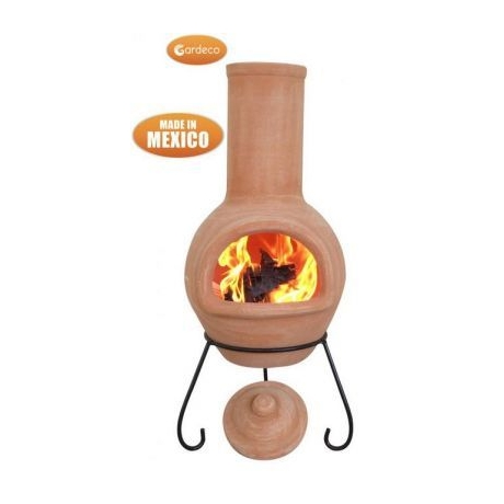Colima Natural Terracota Clay Mexican Chimenea - Large