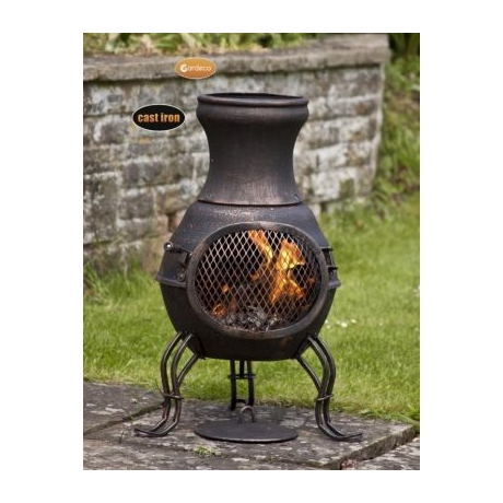Gardeco Billie Bronze Mini Chiminea
