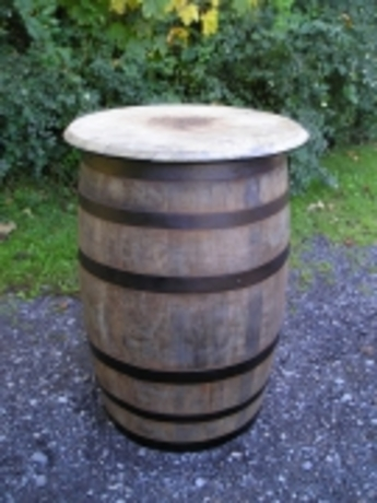 Whiskey Barrel Table Rustic