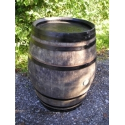 Rustic Barrel Table Black Hoops