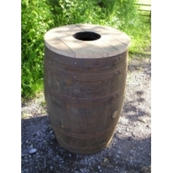 200 Litre Barrel Litter Bin Central Filling Hole