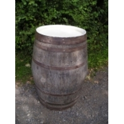 Limed Oak Barrel Posseur Table