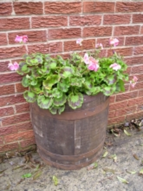 Half Oak Barrel Wall Planter - Rustic Finish