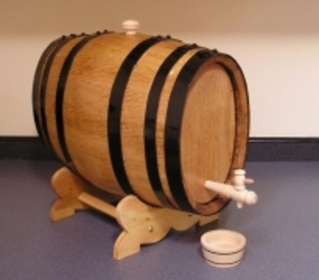Oak 10-litre Oval Shaped Wine Barrel laquered finish