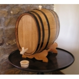 Oak 20-litre Oval Shaped Wine Barrel laquered finish