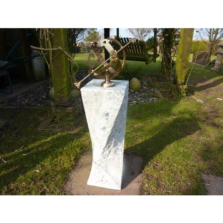 Green Marble Sundial With Armillary