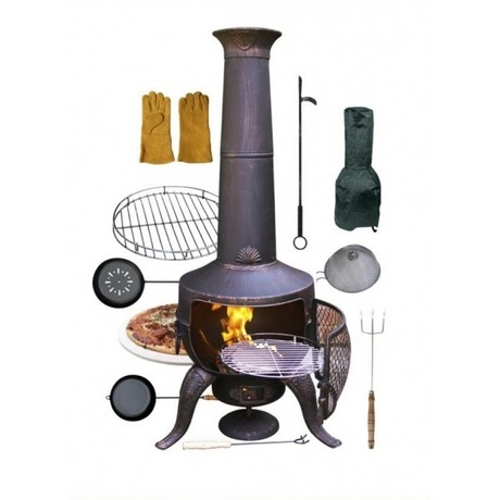 Gardeco Tia Bronze Chiminea - Bundle