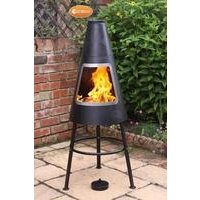 Orno Contemporary Steel Chimenea