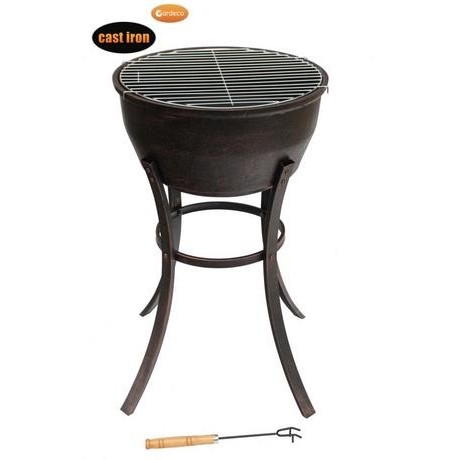 Gardeco Elidir Fire Bowl With Long Legs & Grill