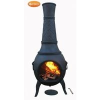 Titan Giant Cast Iron Chimenea - Black