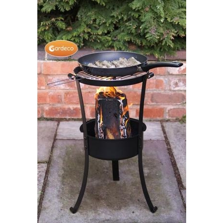 Swedish Log Burner With BBQ Grill