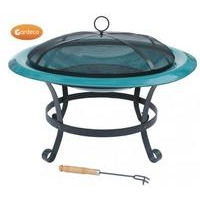 Cassio Enamel Coated Steel Fire Bowl - Green XL