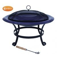 Cassio Enamel Coated Steel Fire Bowl - Purple XL