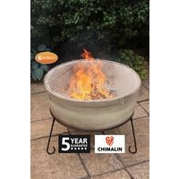 Atlas Jumbo Fire Bowl - Chimalin AFC Clay - Light Sand Brown