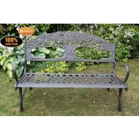 Countryside Cast Iron Bench WithTree Motive