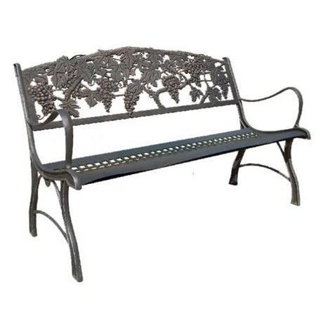 Countryside Cast Iron Bench With Grapes Motive