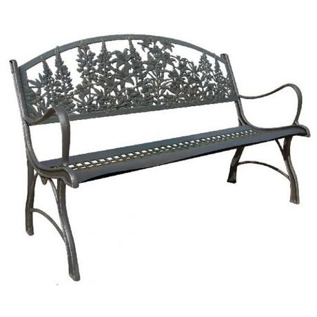 Countryside Cast Iron Bench With Flowers Motive