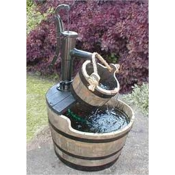 Village Pump Water Garden with Bucket