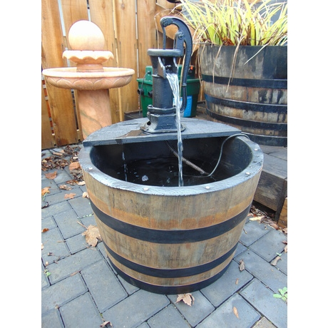 Fish Barrel Water Feature - Pitcher Pump