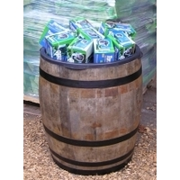Retail Display Hogshead Barrel Gondola - Rustic