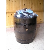 Retail Display Oak Barrel Gondola - Dark