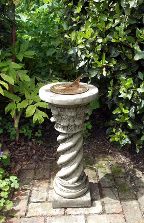 Roman Aged Brass Garden Sundial   Cotswold Stone
