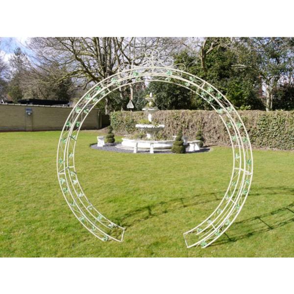 Barrel garden round garden arch modern circular design for Round garden buildings