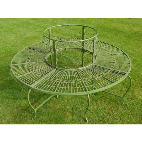 Round Metal Tree Seat - Garden Bench