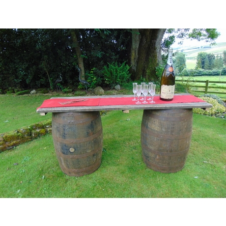 Barrel Bar Hire - 2 Bar Tops + 4 Barrels