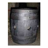 Firkin Barrel Planter - Strawberry Dark Stained Finish