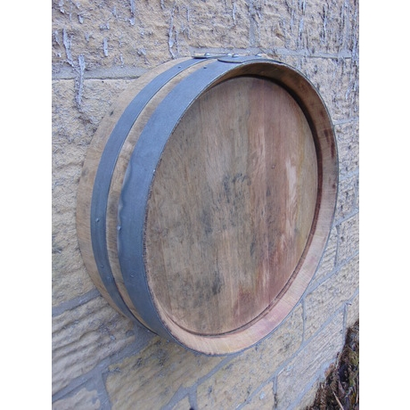 Shallow French Wine Barrel End - Wall Hanging