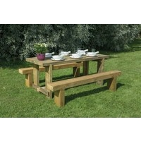 1.8m Sleeper Bench & Refectory Table Set