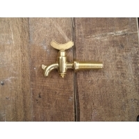 Small Taper Threaded Brass Tap - Size B