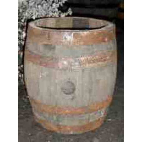 Firkin Barrel Planter - Natural Finish