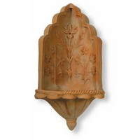 Taj Corner Wall Fountain - Terracotta