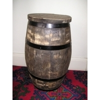 Tall Barrel Stool - Rustic