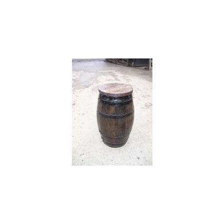 Tall Barrel Stool - Dark