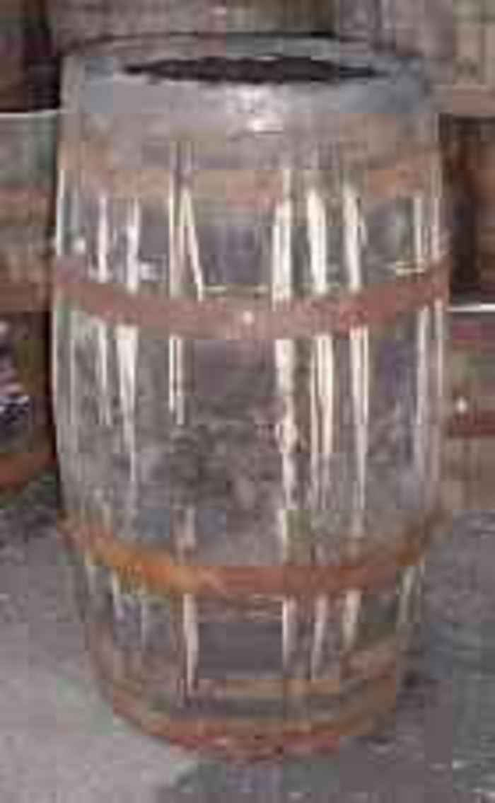 Barrel Amp Garden Tall Barrel Planter Natural Finish
