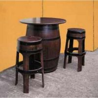 Oak barrel Tables & Stools