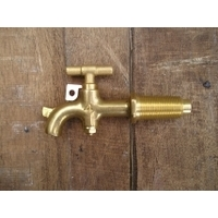 Taper Threaded Brass Tap - No 8