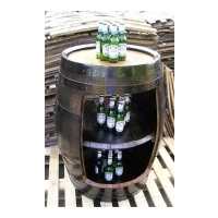 Barrel & Garden :: Triple Stack Retail Display Oak Barrel - Dark