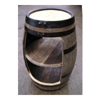 Triple Stack Retail Display Oak Barrel - Rustic