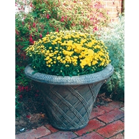 Thatched Urn Stone Planter